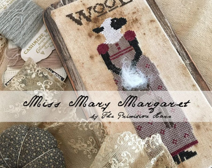 Pattern: Miss Mary Margaret Cross Stitch - Primitive Hare