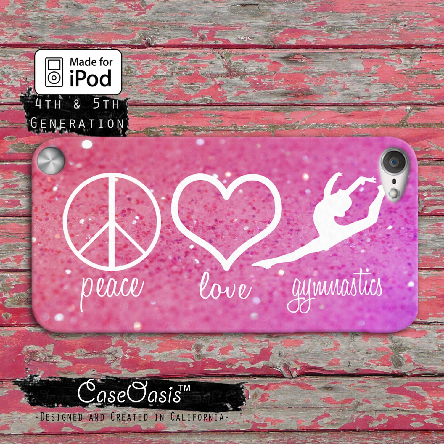 Quote About Peace And Love Peace Love And Gymnastics Quote Pink Sparkle Cute Dance Case