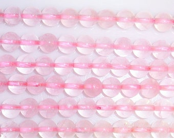 6mm Round Rosequarz Beading 15''L Semiprecious Gemstone  Jewelry Supply Wholesale Beads