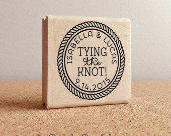 Personalized Wedding Stamp - Tying the Knot