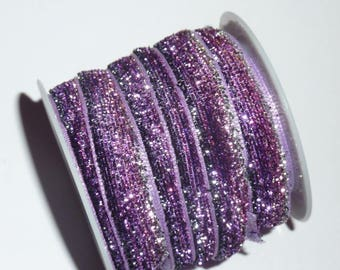 sparkling 10 mm wide 2 m Ribbon 40 long purple gradient