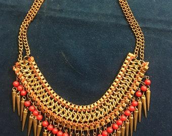 Goldtone Brass Link Necklace