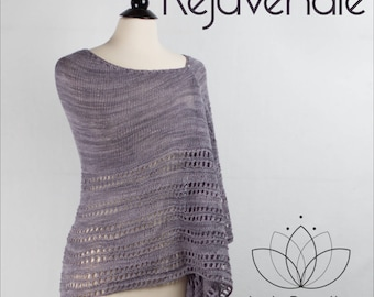 Rejuvenate Shawl Yarn Kit in your choice of color - Just Breathe