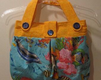 Ocean Print Handbag/Tote