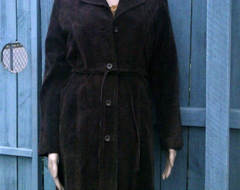 Vintage brown suede coat
