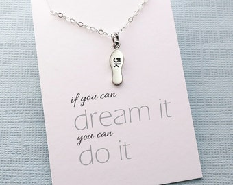 Running | Inspirational Running Gift, Fitness Jewelry, Workout Necklace, Marathon Gift for Women, Best Friend Gift for Her, Gifts for Mom |6
