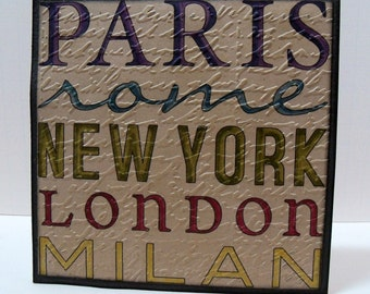 Paris Word Collage