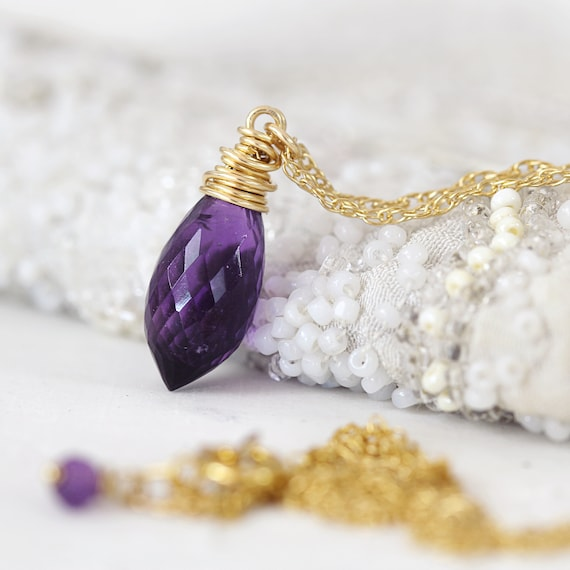 Amethyst Necklace - Elegant Amethyst Jewelry