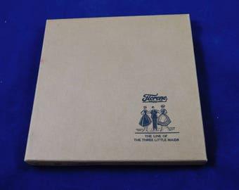 6 Vintage Linen Ladies Hankies in the Original Box