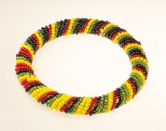 African Colors Beaded Bracelet