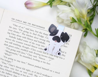 Bulldog - Magnetic bookmark || french bulldog, dog, happy planner, literary gift, paper clips, book lover, planner bookmark, planner clips