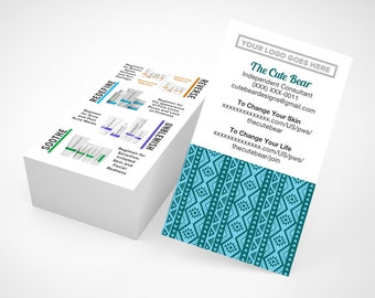 Rodan and Fields Business Cards, Batik, R and F Cards, RF, Rodan Business Card, Marketing, Branding, Printable, Digital