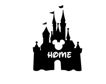 Cinderella Castle Home Iron on T Shirt Design