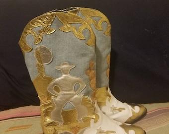 SALE beautiful zalo western glam cowboy boots size 7