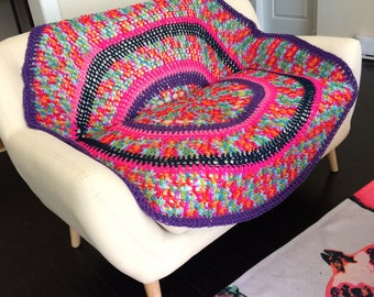Crochet Couch Throw