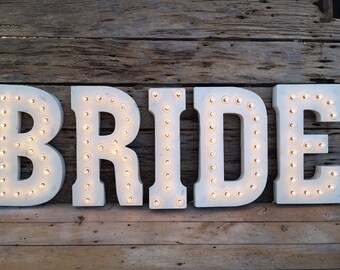 White Metal Marquee Light Letter- 21""