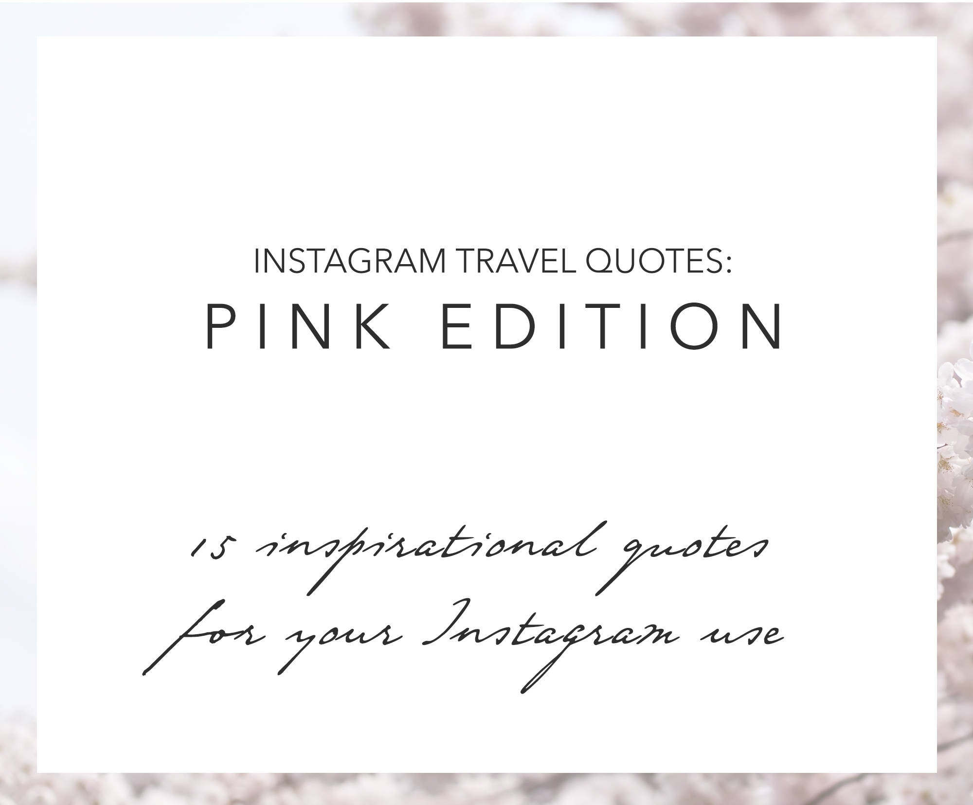 Quotes Instagram 15 Inspirational Travel Quotes Instagram Pink Images