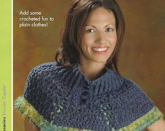 Shoulder Capelet Crochet Pattern, Women's Accessories, Women's Apparel, Annie's Scrap Crochet