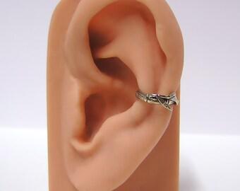 Bamboo Ear cuff in Sterling Silver .925 (sw)