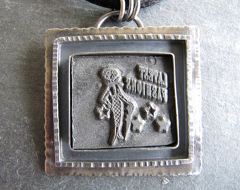 Latest Fashions Vintage Letterpress Pendant in Sterling silver
