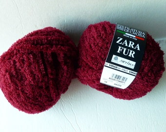 Yarn Sale  - Crimson 16  Zara Fur by  Filatura Di Crosa Yarn