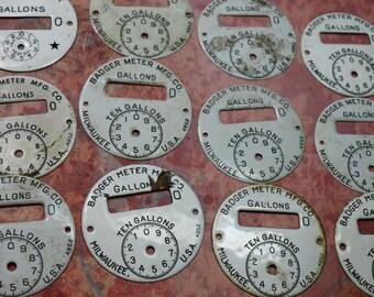 1 Vintage Gas Meter Dial