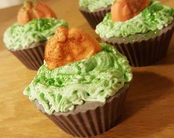 Pumpkin patch soap cupcakes
