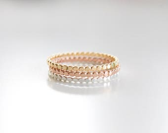 Dainty Dot Ring - Gold, Silver or Rose Gold - Stacking Rings - Bead Ring - Skinny Ring - Minimalist Ring - Midi Ring - Simple Band