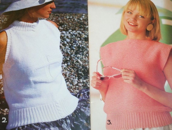 bbb80d0c022b Sweater Knitting Patterns Summer Martinique Beehive Patons 619 Women Men  Worsted Weight Yarn Vintage Paper Original NOT a PDF. Sold by elanknits