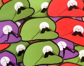 Mario Luigi Waluigi Sticker