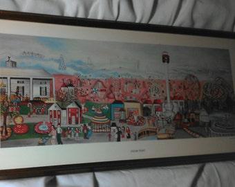 Cedar Point Bernadine Stetzel Signed Art Print