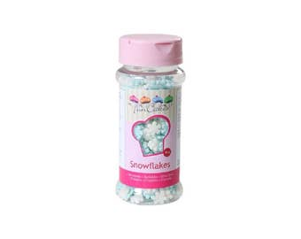 Snowflakes white & blue sugar 50 g FunCakes