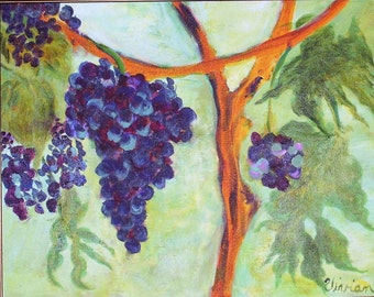 Grapes, Acrylic Painting