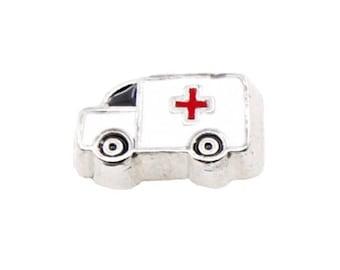 Ambulance  Floating Charm