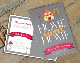 Home Sweet Home Postcards, New Home Announcement, Set of 20 5x7 Postcards, Just Moved Cards