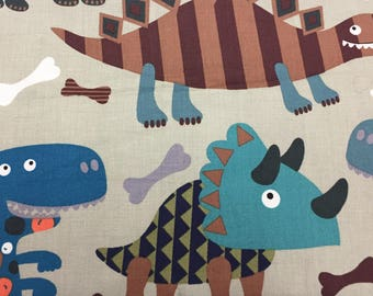 Dinosaur Fabric, Dino Fabric, Boy Fabric, Alexander Henry Fabric, Cotton Fabric
