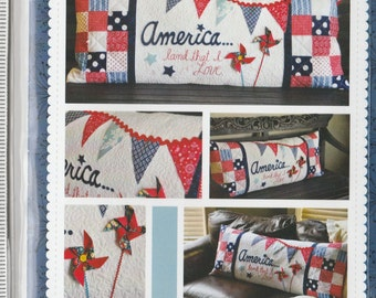 America Land That I Love - Bench Pillow Pattern - by Kimberbell Designs  #KD177 (2C)