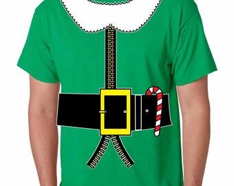 Men's Tee Shirt Elf Suit Santa's Elves Christmas Gift Xmas Top halloween shirts Green Ugly Christmas Sweater Size S,M,L,XL,XXL