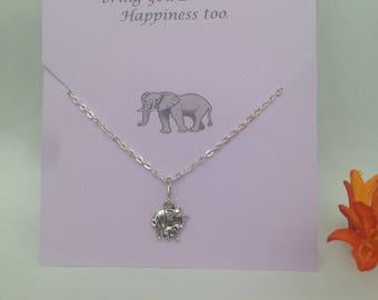 Elephant Charm Bracelet. Good Luck Elephant. Gift card. Elephant Bracelet. Gift. Elephant Gift. Lucky Elephant Perfect Gift.