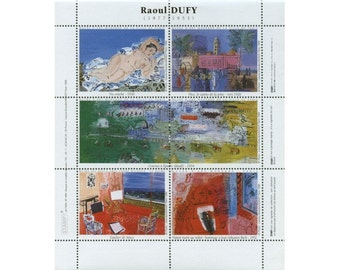Artists' Artistamps - Raoul Dufy - Sheet of 6 Stamps
