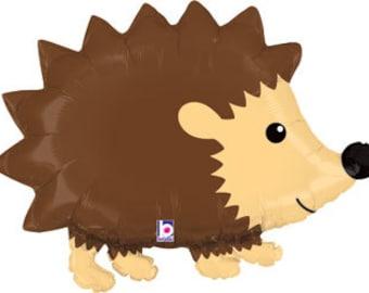 """Woodland Hedgehog Balloon, Hedgehog Balloon, Woodland Theme, Woodland Party, Nature Theme, Nature Party, Wild Animal Theme, Hedgehog,  30"""""""