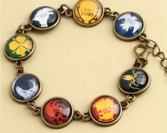 Dome Crystal bracelet Game of Thrones with all houses + beaded Bracelet