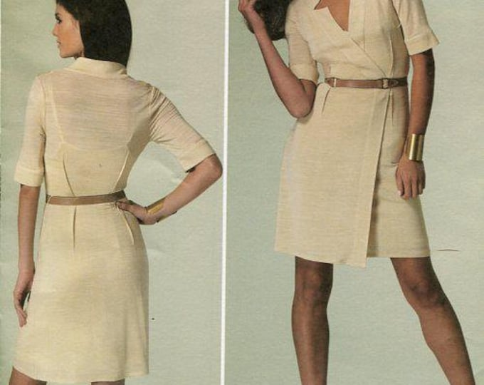 Free Us Ship Vogue 1285 Sewing Pattern American Designer Tracy Reese Notch Neck Dress Size  16 18 20 22 24 Bust 38-46