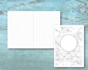 B6 Travellers Notebook PRINTABLE Insert   Dot Grid