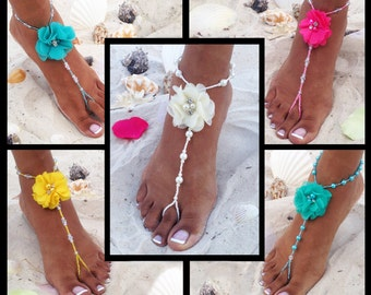 35 Different Colors, Bridal Party Barefoot Sandals, Barefoot Sandals, Bridesmaids Gifts, Wedding Barefoot Sandals, PICK YOUR COLORS