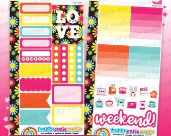 Functional Personal Size Weekly Kit 0215 Planner Stickers/Panda/Kawaii/Cute Sticker/Filofax/KikkiK/Rings/ UK