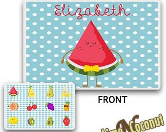 Watermelon Placemat, Kids Placemat, Childrens Dish Set, Baby Placemat, Baby Dinnerware Set, Baby Dish Set, Childrens Dishes, Kids Place Mat