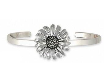Daisy Bracelet Jewelry Sterling Silver Handmade Flower Bracelet DY5-CB