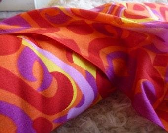 Retro Cotton Fabric by the Yard, Cotton Yardage, Fabric by the Yard, Yardage