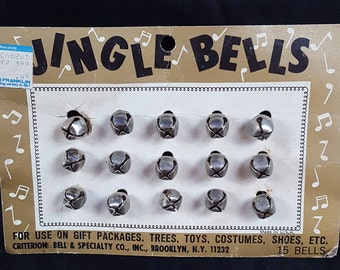 Vintage Jingle Bell Advertising Display Card Ben Franklin Price Tag 49 Cents